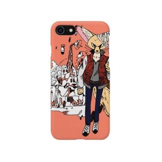 獣人フェネック Smartphone cases