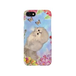 お花と猫 Smartphone cases