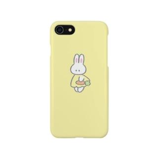 にんじんを持つ(イエロー) Smartphone cases