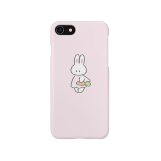にんじんを持つ(ピンク) Smartphone cases
