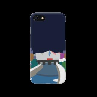 7センチの鴨  川 (夜) Smartphone cases