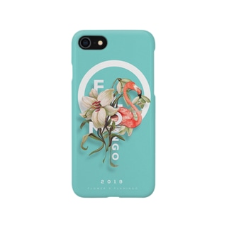 FLOMINGO(flower X flamingo) blue Smartphone cases