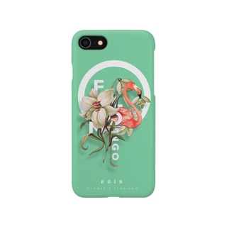 FLOMINGO(flower X flamingo) green Smartphone cases