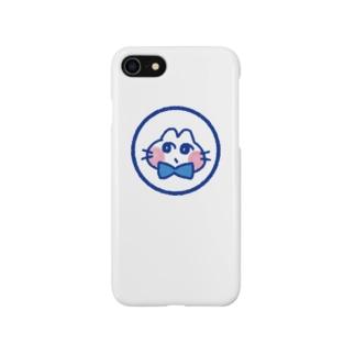 おすましねこブルー Smartphone cases