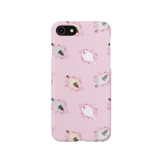 SAKURA BED うす桃 Smartphone cases