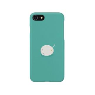 横になって眠る鳥 Smartphone cases