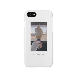アイスと豚 Smartphone cases