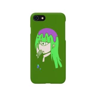 緑単眼 Smartphone cases