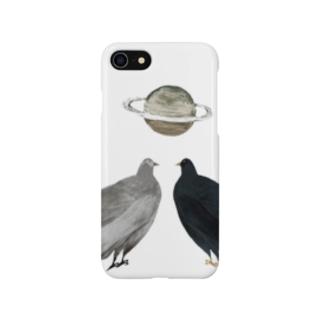 烏と土星 Smartphone cases