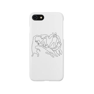 ネケチェン・アウトライン Smartphone cases