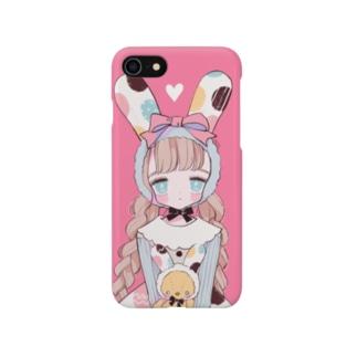 エッグ柄うさぎガール Smartphone cases