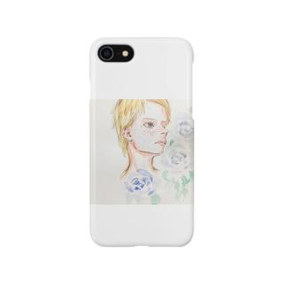 青薔薇と少年 Smartphone cases