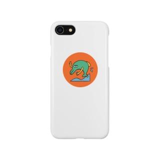 自撮りイルカ Smartphone cases