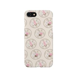 文鳥のお食事 brown Smartphone cases