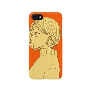 オレンジ女子スマホケース Smartphone cases