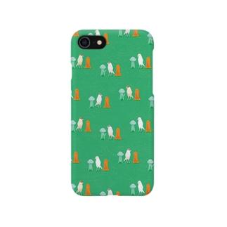 細長い仲間たち green Smartphone cases