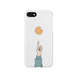 食べかけのオレンジ Smartphone cases
