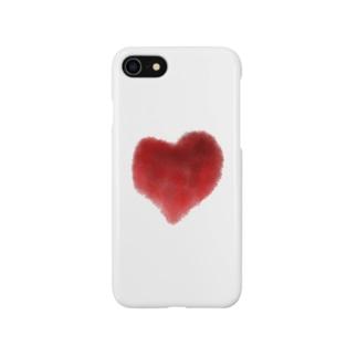 滲む赤 Smartphone cases