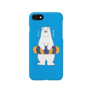 シロクマさんとウキワ Smartphone cases