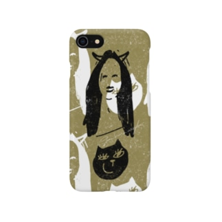 Girl and cat Smartphone cases