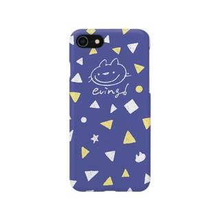 えびんぐ手書きロゴ(ネイビー) Smartphone cases