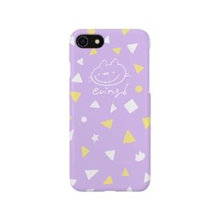 えびんぐ手書きロゴ(パープル) Smartphone cases