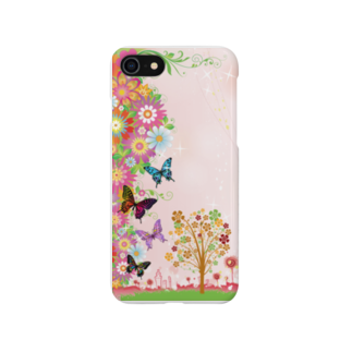 aco516の蝶&花(スマホケース) Smartphone cases