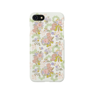 くまちゃんと花束 Smartphone cases
