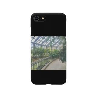 植物園 黒 Smartphone cases
