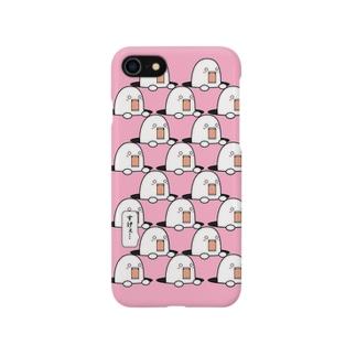 穴から出過ぎてるやつ(pink) Smartphone cases