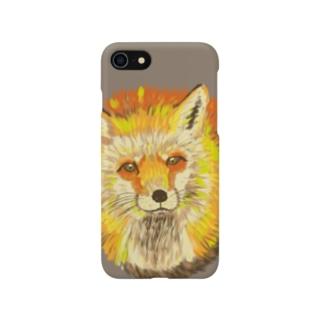 キツネスマホケース Smartphone cases