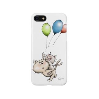 ネコとおんぶ Smartphone cases