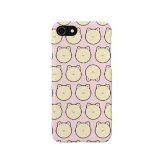 かおのパーツがちいさいネコスマートフォンケース Smartphone cases