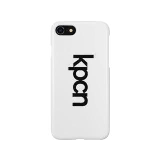 かおのパーツがちいさいネコスマートフォンケース(白) Smartphone cases