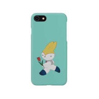 走るネリ 水色 Smartphone cases