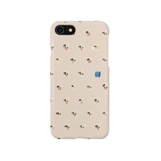 げんぴょんがら(べーじゅ) Smartphone cases