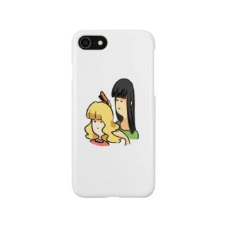 髪をとかす女と、とかされる少女 Smartphone cases