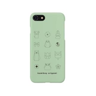 カミキィ折り紙うすみどり Smartphone cases