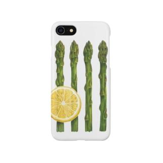 アスパラガスとレモン Smartphone cases