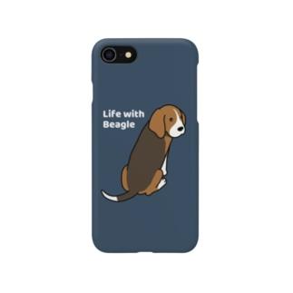 ビーグル2(ネイビー) Smartphone cases