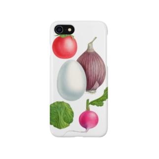 エシャロット・プチトマト・ラディッシュ・玉子・芽キャベツ Smartphone cases