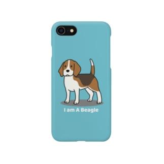 ビーグル1(ブルー) Smartphone cases