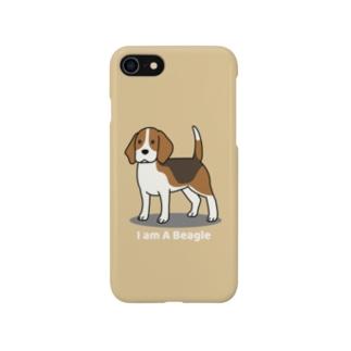 ビーグル1(イエロー) Smartphone cases