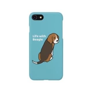 ビーグル2(ブルー) Smartphone cases
