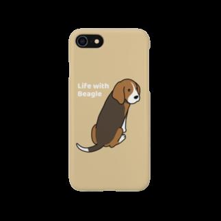 efrinmanのビーグル2(イエロー) Smartphone cases
