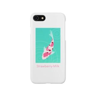 錦鯉(いちごミルク) Smartphone cases