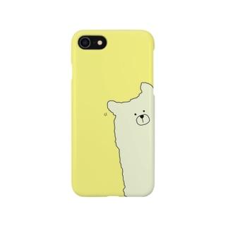 ひょっこりアルパカ スマホケース Smartphone cases