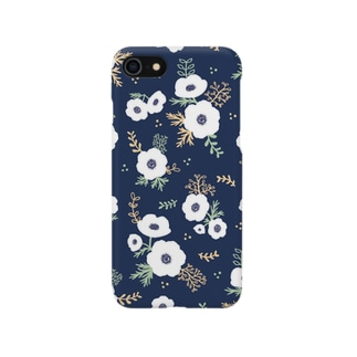 アネモネ(ネイビー) Smartphone cases