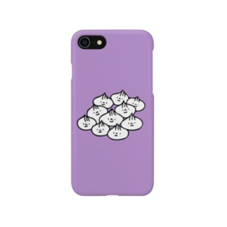 肉まんまんたくさん(むらさき2) Smartphone cases