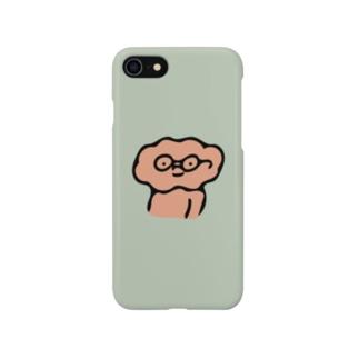 中身ちゃんめがね(みどり) Smartphone cases